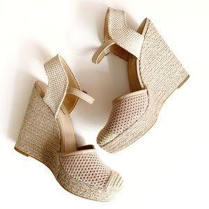Lucky Brand Woven Espadrille Closed Toe Wedges 8